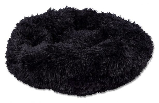 Black Calming Pet Bed